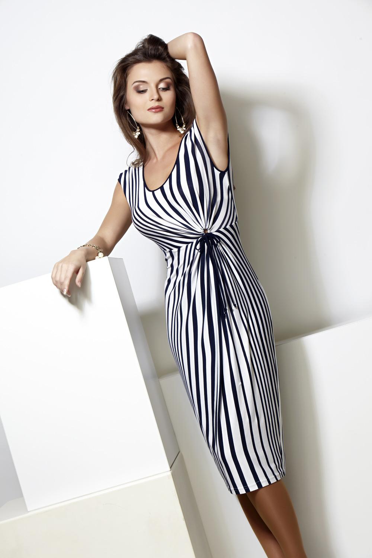 Мода 2017 платье в полоску
