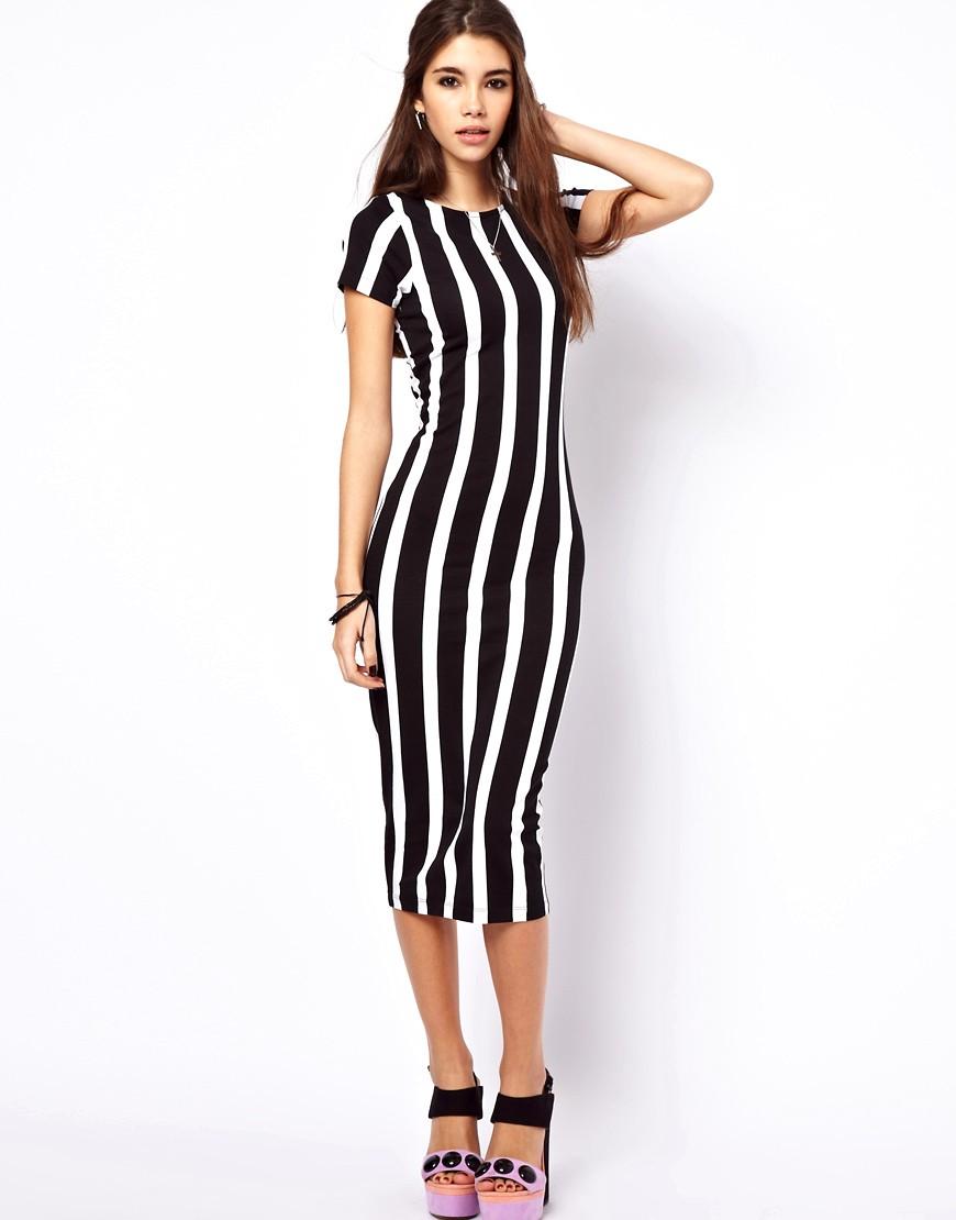 Line In Fashion Design : Летние платья в полоску фото с карманами морячка