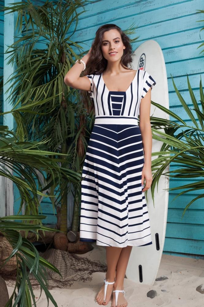 Поперечная полоска платье для