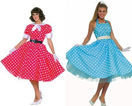 Платья в горошек стиль стиляги