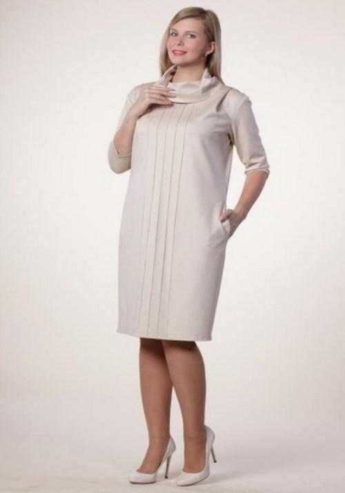 cef7eb46179 Прямое платье для полных женщин (43 фото)  силуэт