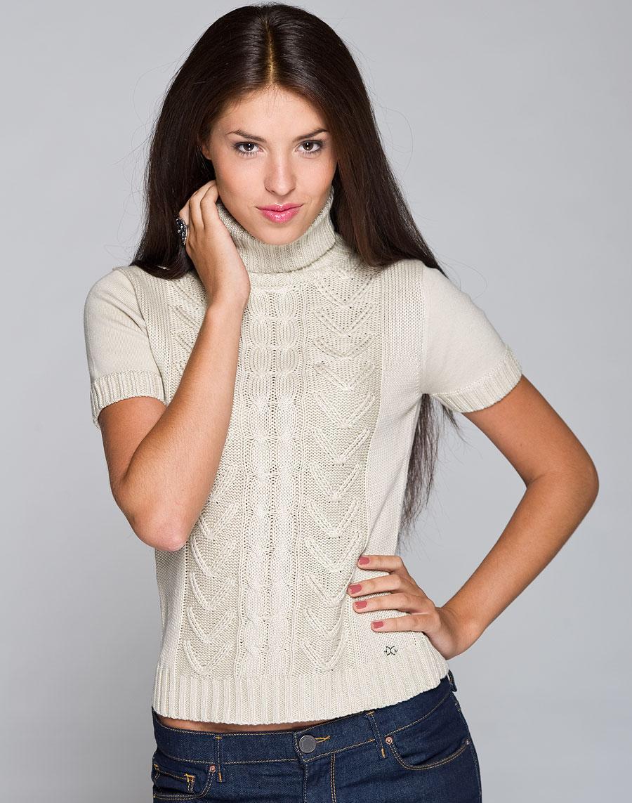Пуловер С Коротким Рукавом Вязаный С Доставкой