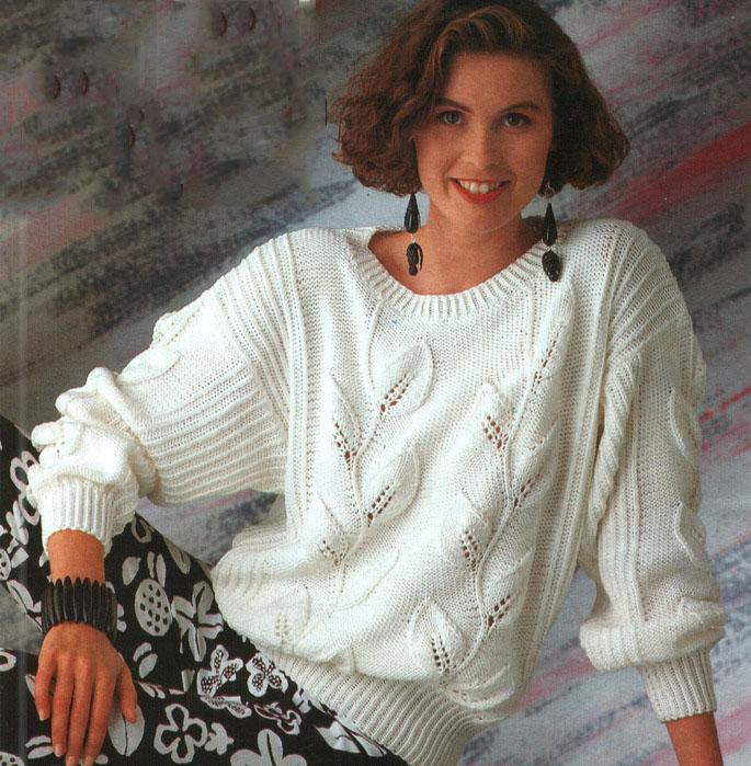 Вязание спицами джемпер женский с описанием