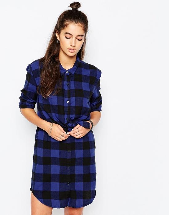 Платья рубашки в клетку купить