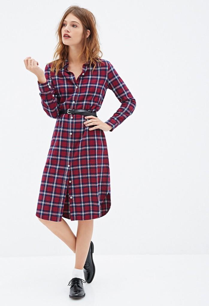 fe0dd9a129c Платье-рубашка в клетку (53 фото)  с чем и как носить