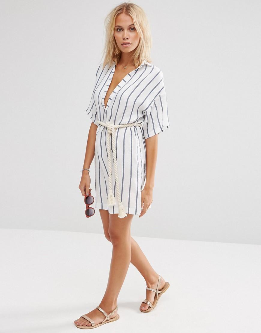 Полосатые платья рубашки фото