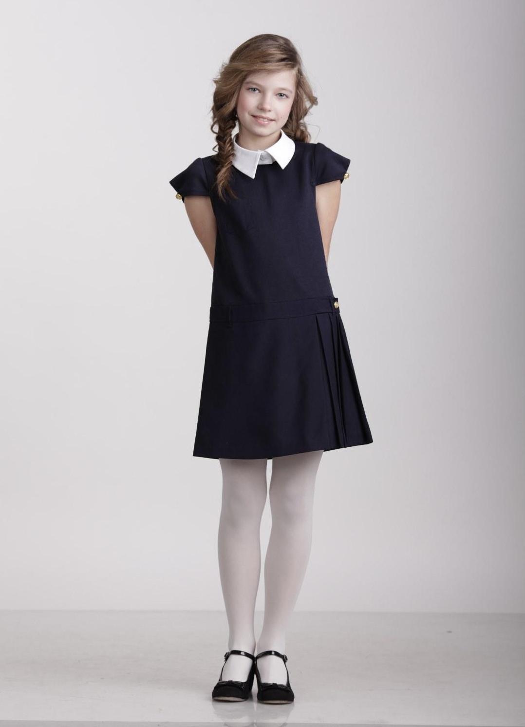 Красивые воротнички на школьное платье