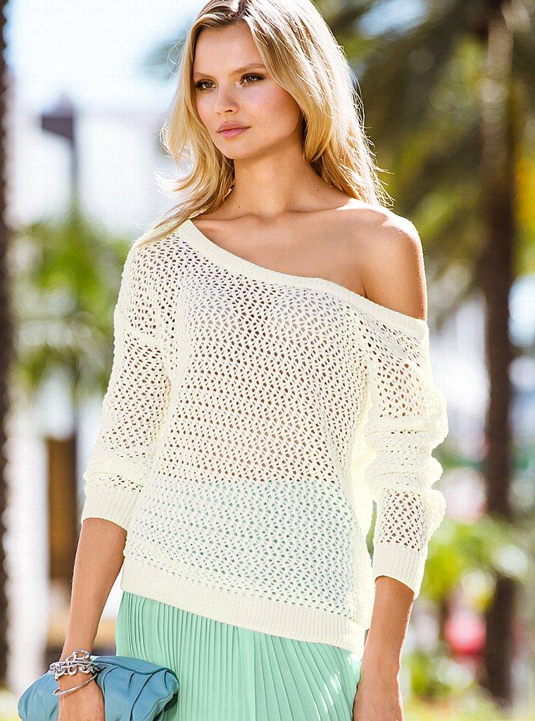 Вязаный Летний Пуловер