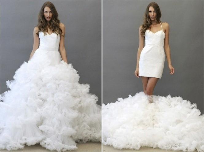 b9c29572c93196 Желание быть всегда разной, дизайнеры смогли воплотить и в свадебной моде,  представив невестам платье-трансформер.
