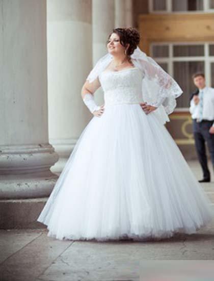 Фото свадебных пышных платьев для полных девушек