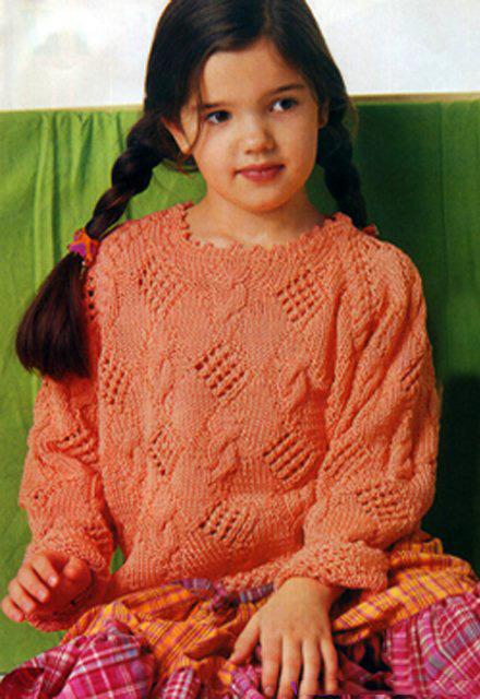 Пуловер С Косами Для Девочки С Доставкой