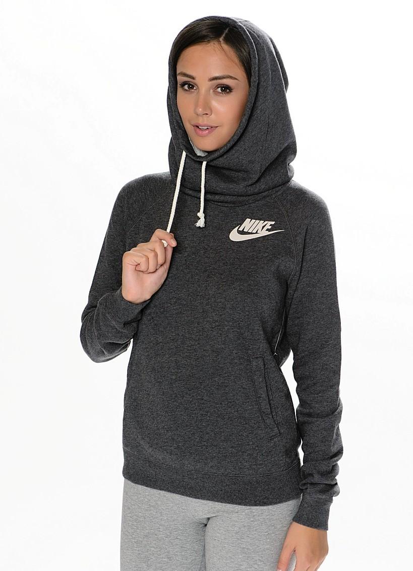 83d81fd125e8 Женские толстовки Nike (48 фото): Sportswear, Air, FC, серая, Aw77 ...