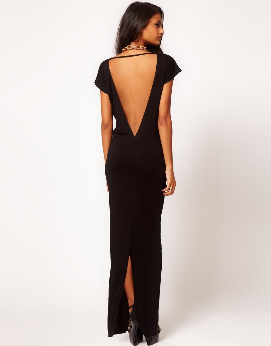 Вечерние платье с вырезом на спине