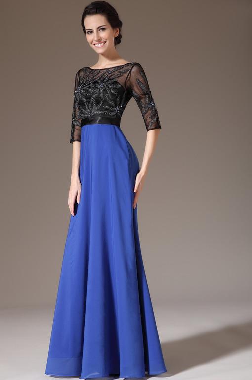 Платья сине белые