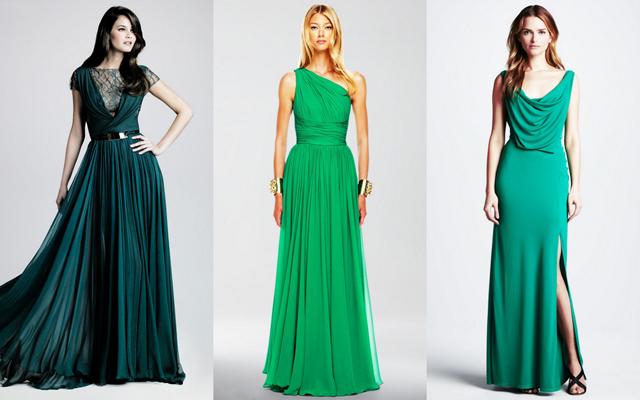 Платья тёмно зелёного цвета