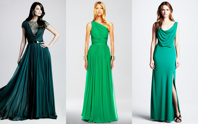 платья темно-зеленого цвета фото