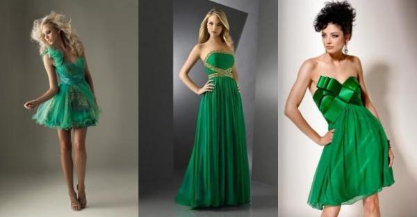 Картинка зеленого платья