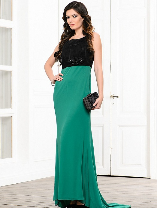 платья зелёного цвета фото