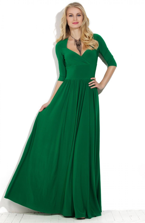 Вечернее платье трикотажа