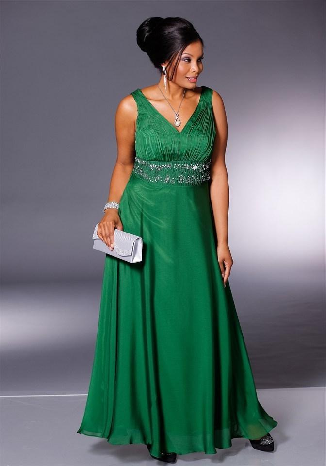 Платья зеленого цвета для полных фото