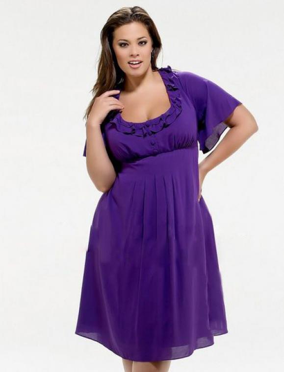 Сиреневые платья для полных 103