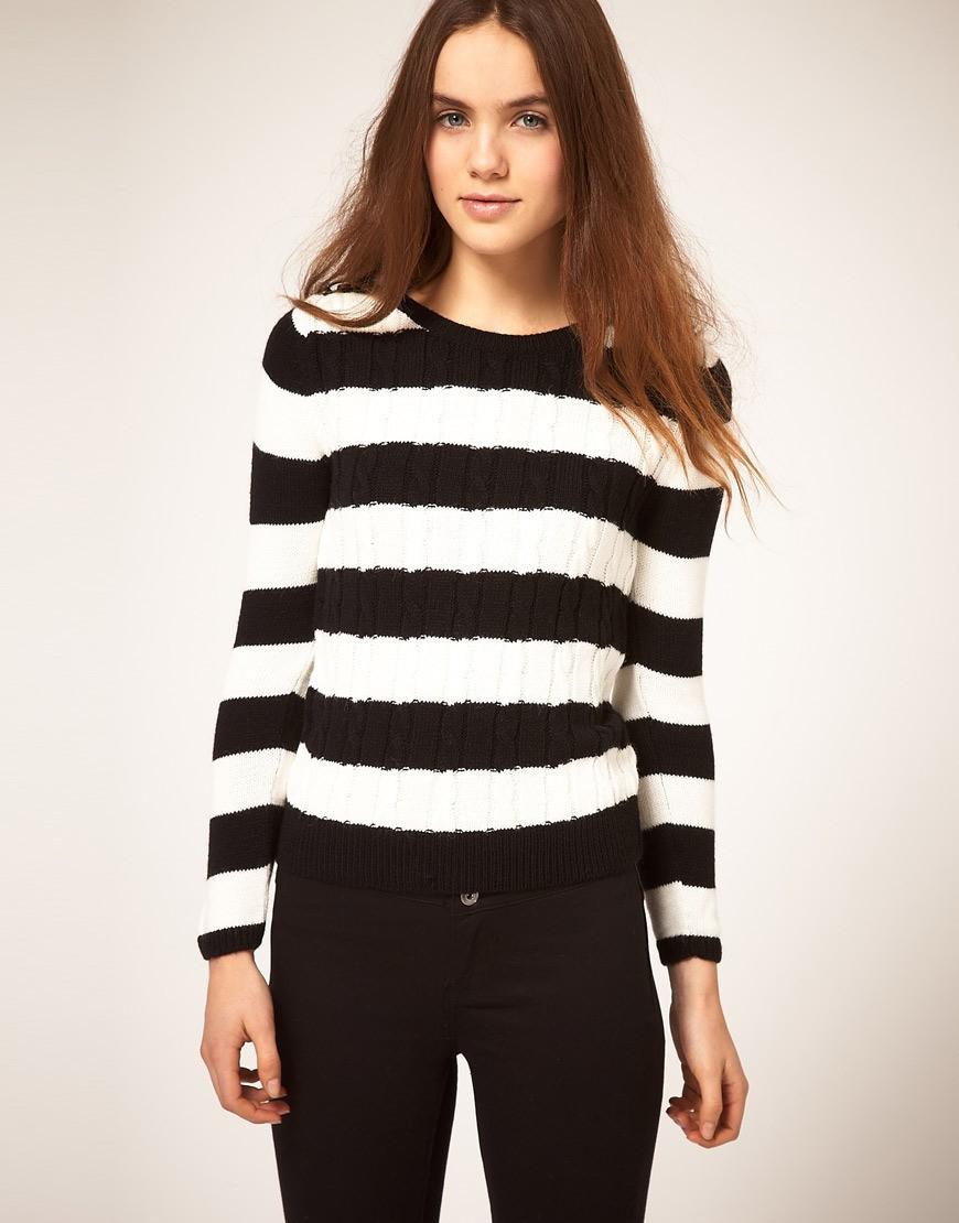 Черно Белый Пуловер Доставка