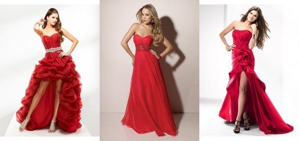 Красные платья на бал
