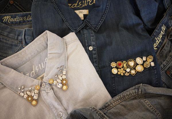 Украсить джинсовую рубашку своими руками