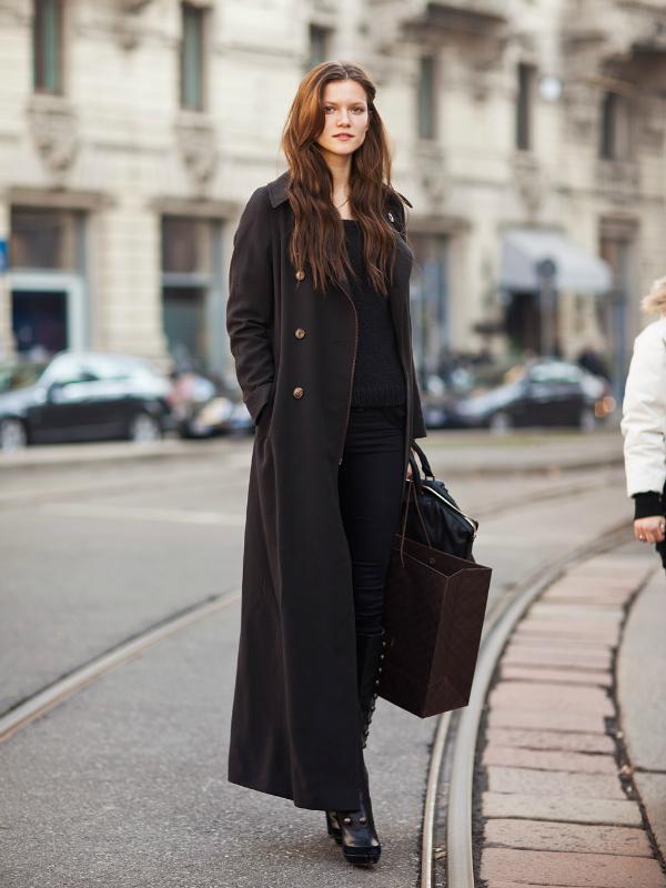 Трикотаж пальто и платье