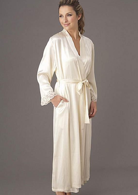 af5c1cbe823e0 Белый шелковый халат: женский, для невесты