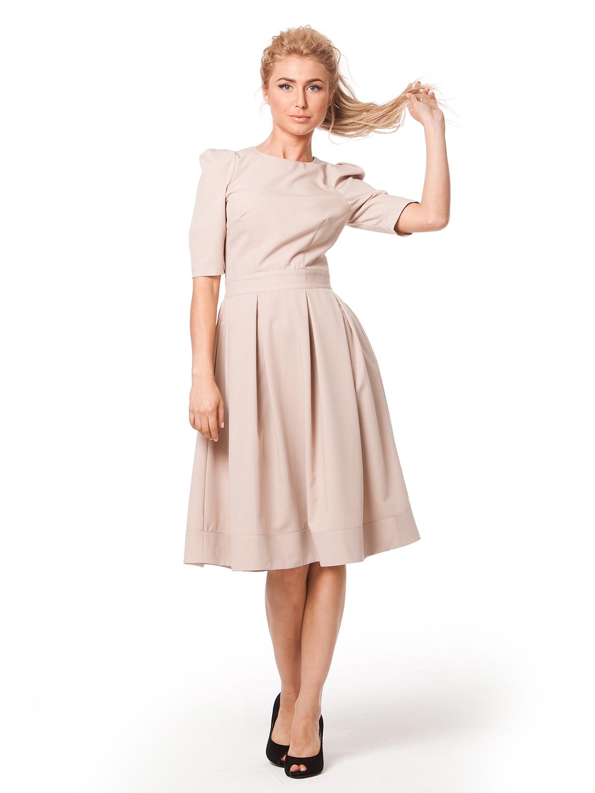 Платье с юбкой со складками выкройка