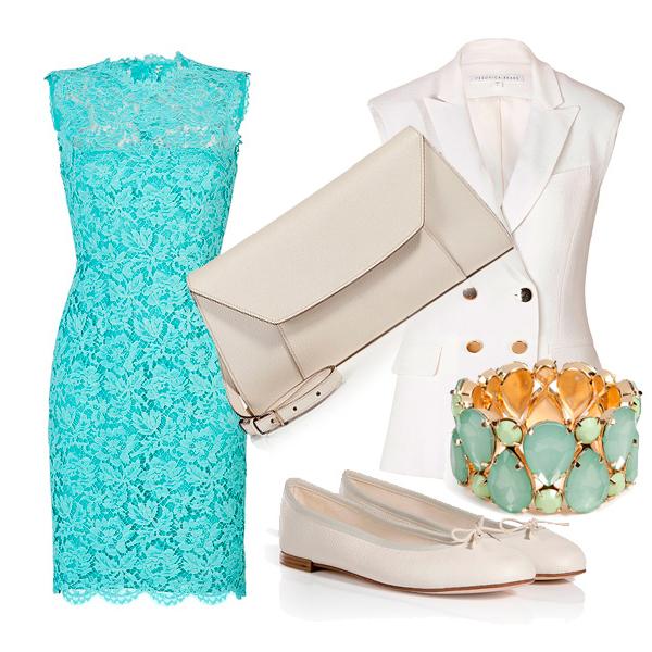 Какие туфли подойдут к цвета мяты платью