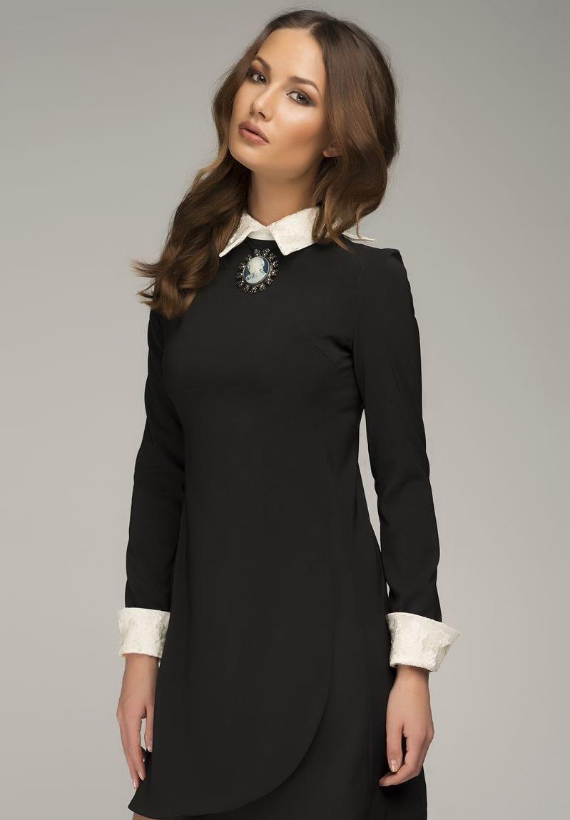 21f22db5286 Такой вариант платья может выполнять функцию офисного наряда или одежды для  свидания. В обоих случаях платье будет смотреться уместно
