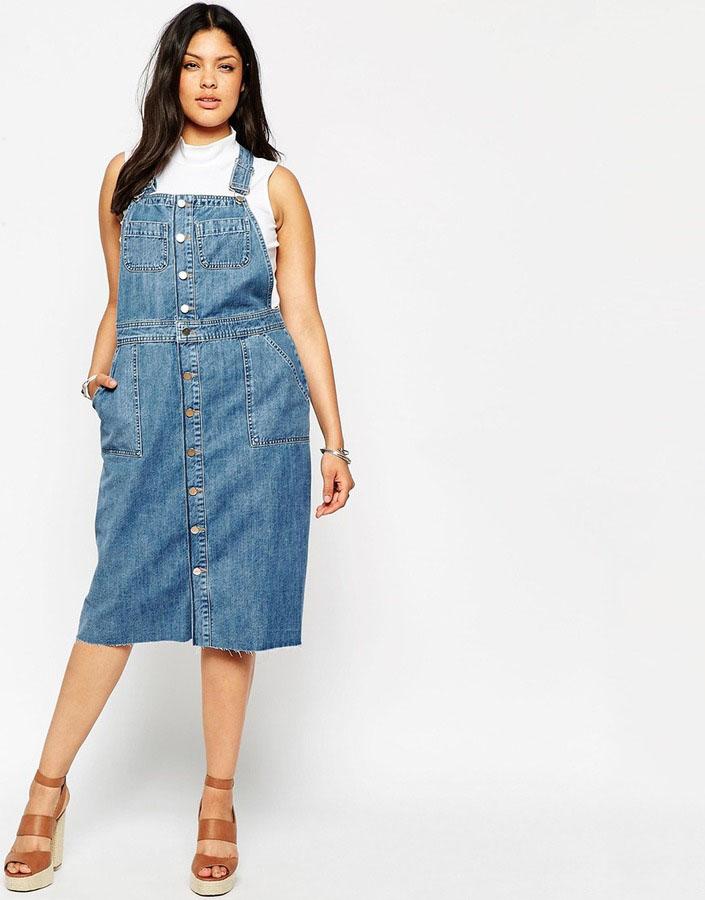 1d0d12f6a709 Но наибольшей популярностью среди пышек пользуются джинсовые модели  сарафанов. Занятно, что они могут отличиться разной длиной рукава, так что  девушкам не ...