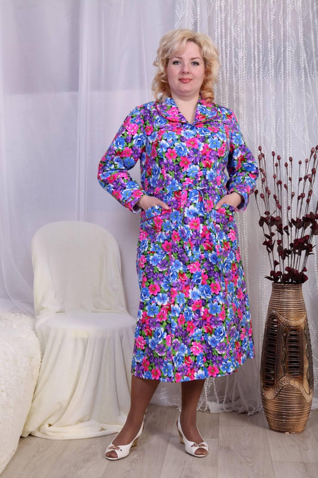 Домашнее платье большого размера своими руками6