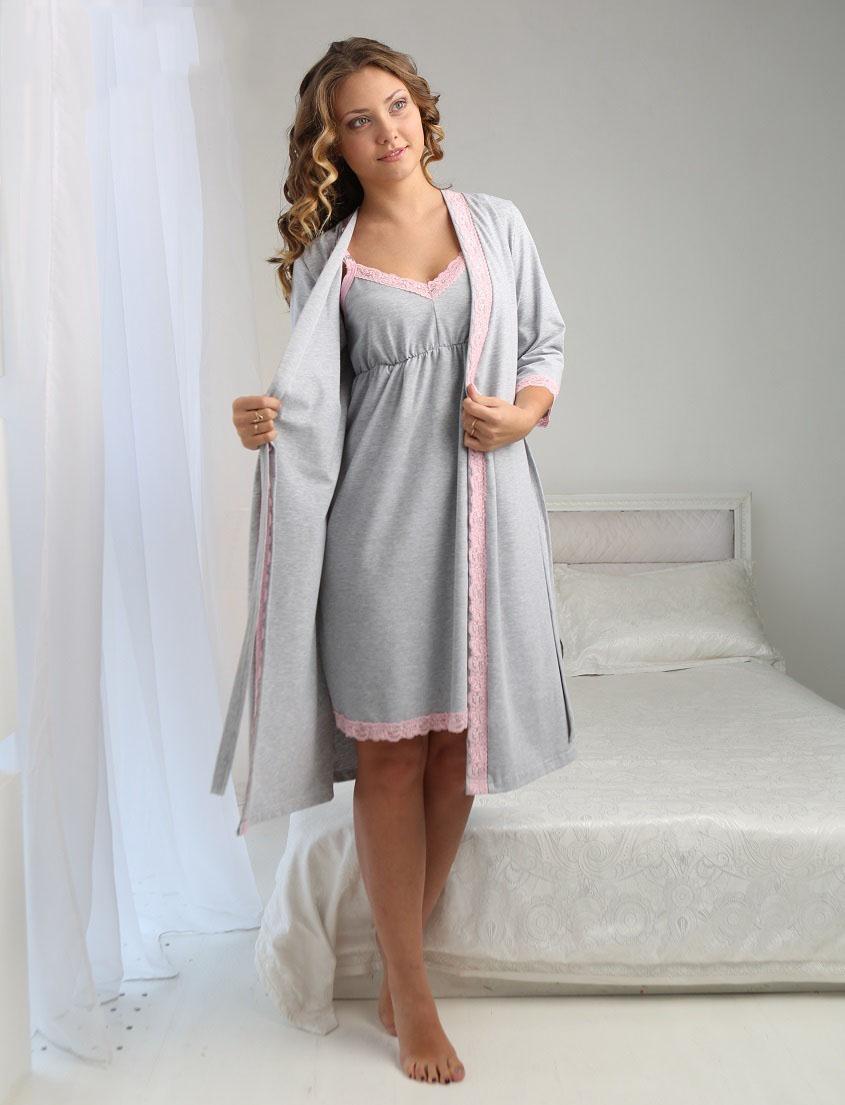 Халаты для беременных и кормящих (54 фото)  теплый, велюровый ... 09b9a17806f