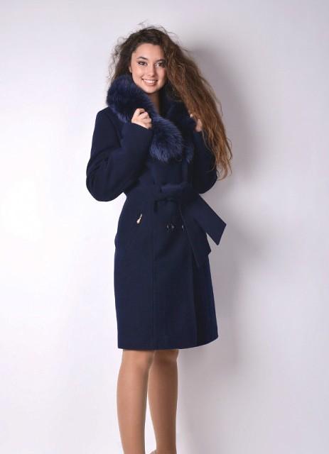 feeb8e71812 Кашемировое пальто с меховым воротником (50 фото)  из чернобурки