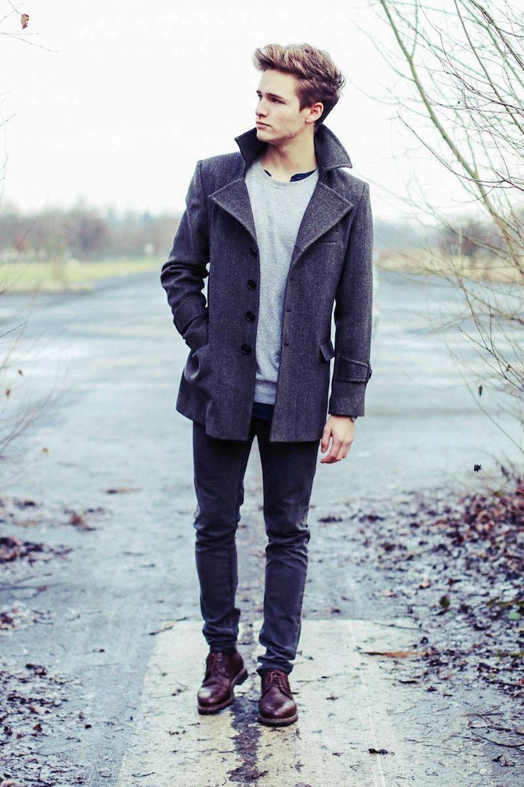 Короткое мужское пальто (45 фото): двубортное, приталенное