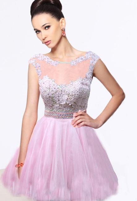 Вечернее короткое пышное платье фото