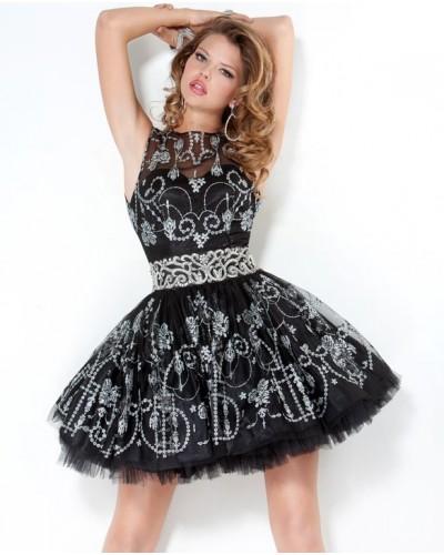Платье с юбкой пачкой короткое