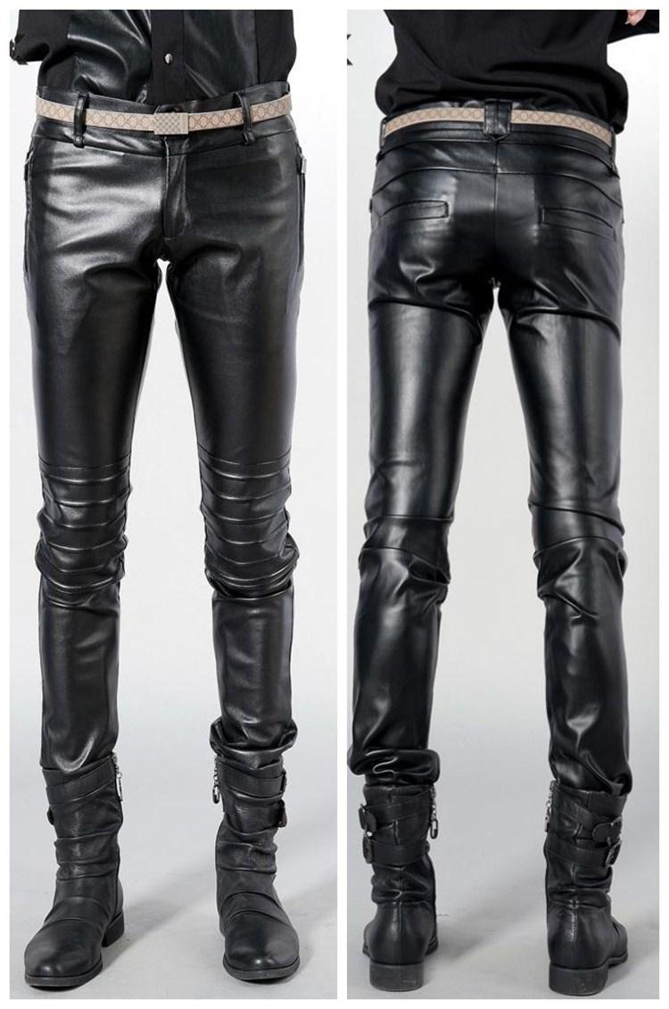 брюки мужские кожаные фото