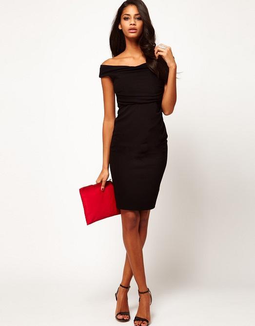Платье-карандаш 2018 (93 фото): ниже колена, черное, красное, трикотажное, с баской, кружевное, красивое 668