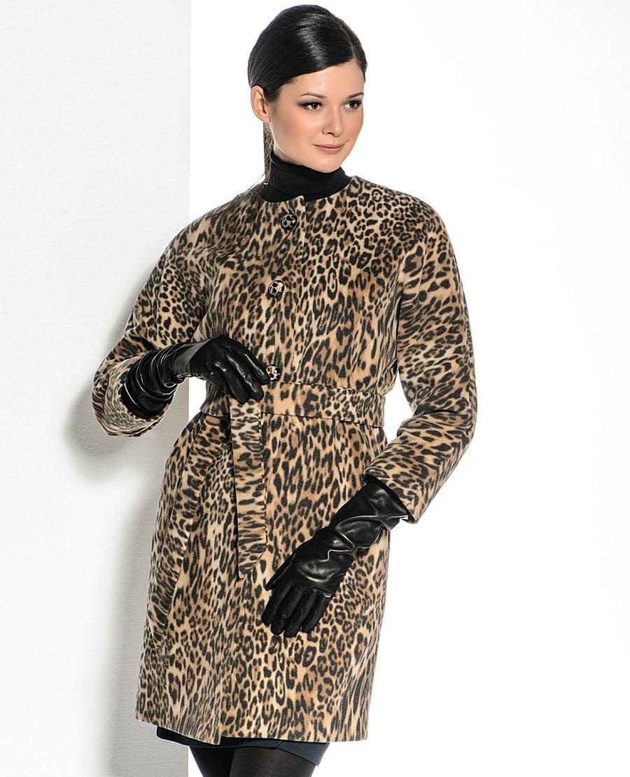 фото пальто леопардовое
