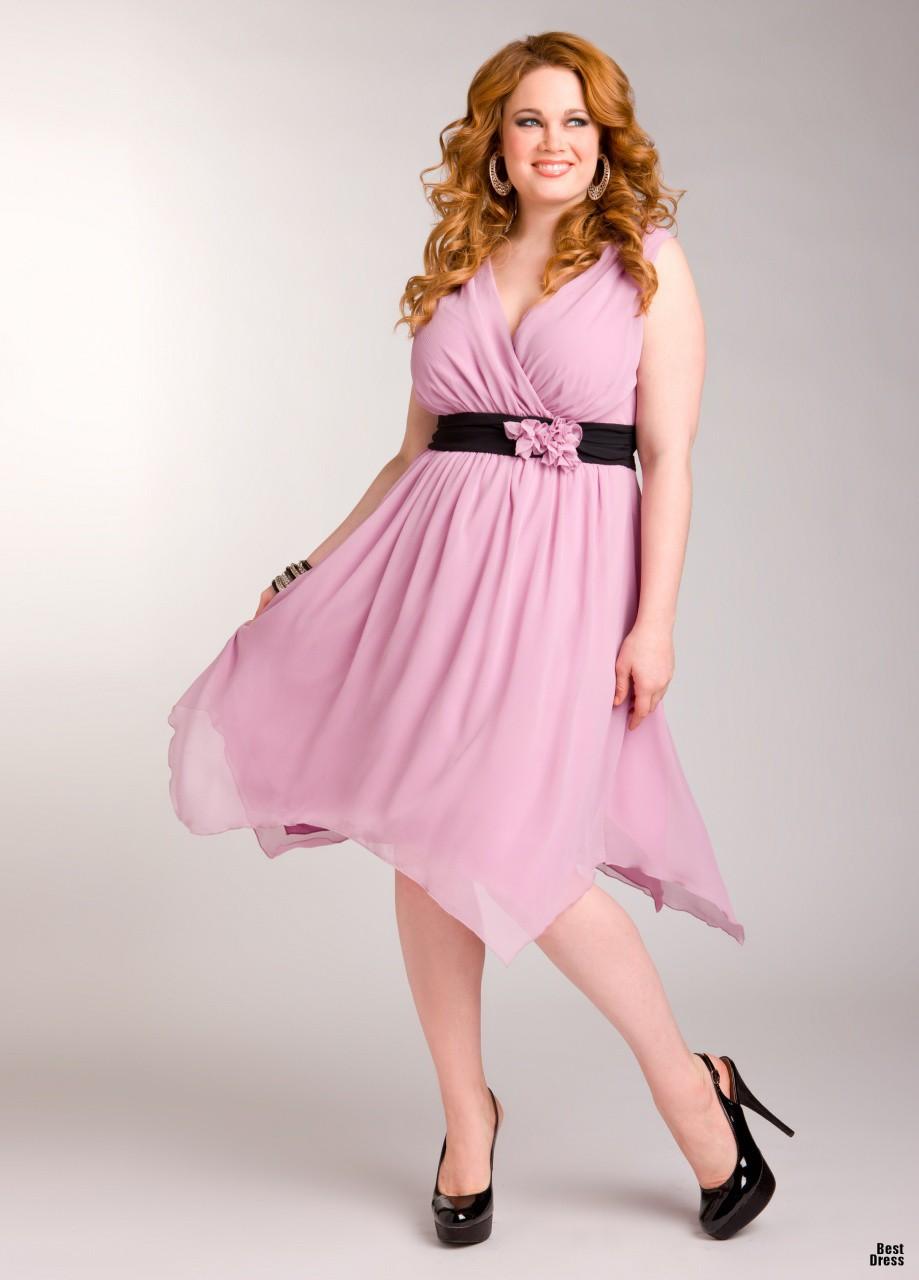 Платье для полных девушек на выпускной