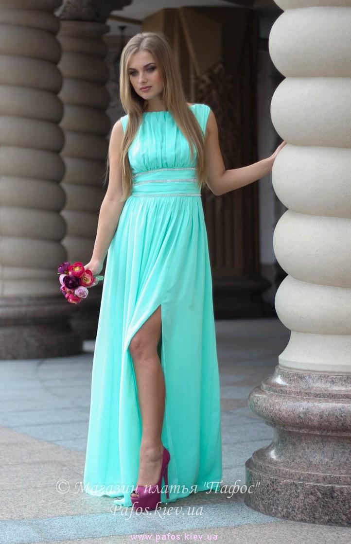 Фото платье мятного цвета