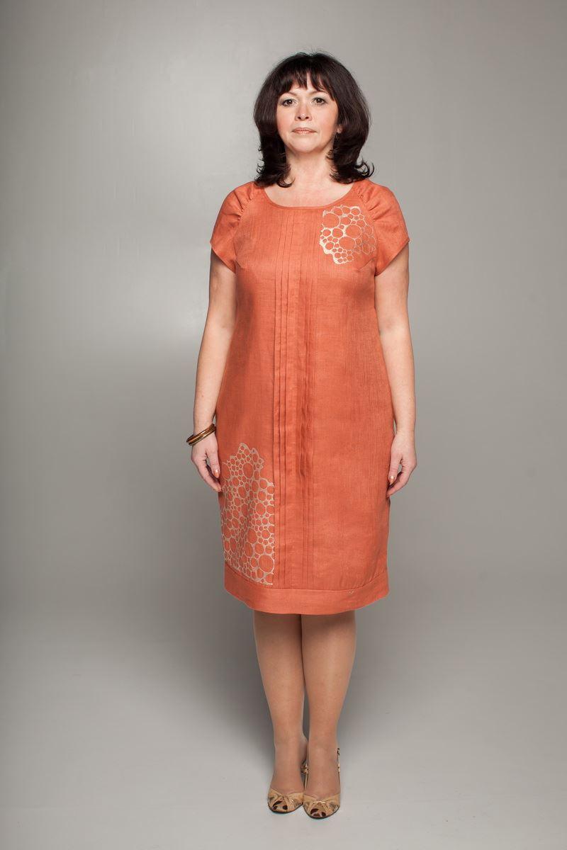 b714171c4891034 Льняные платья и сарафаны для полных женщин