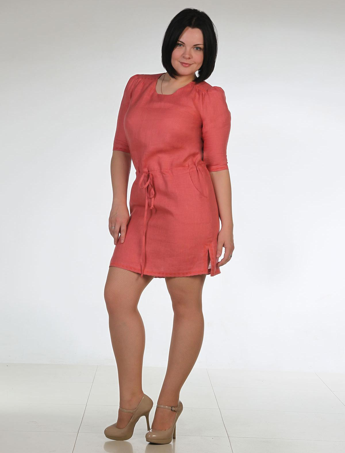 Классическое платье из льна 70