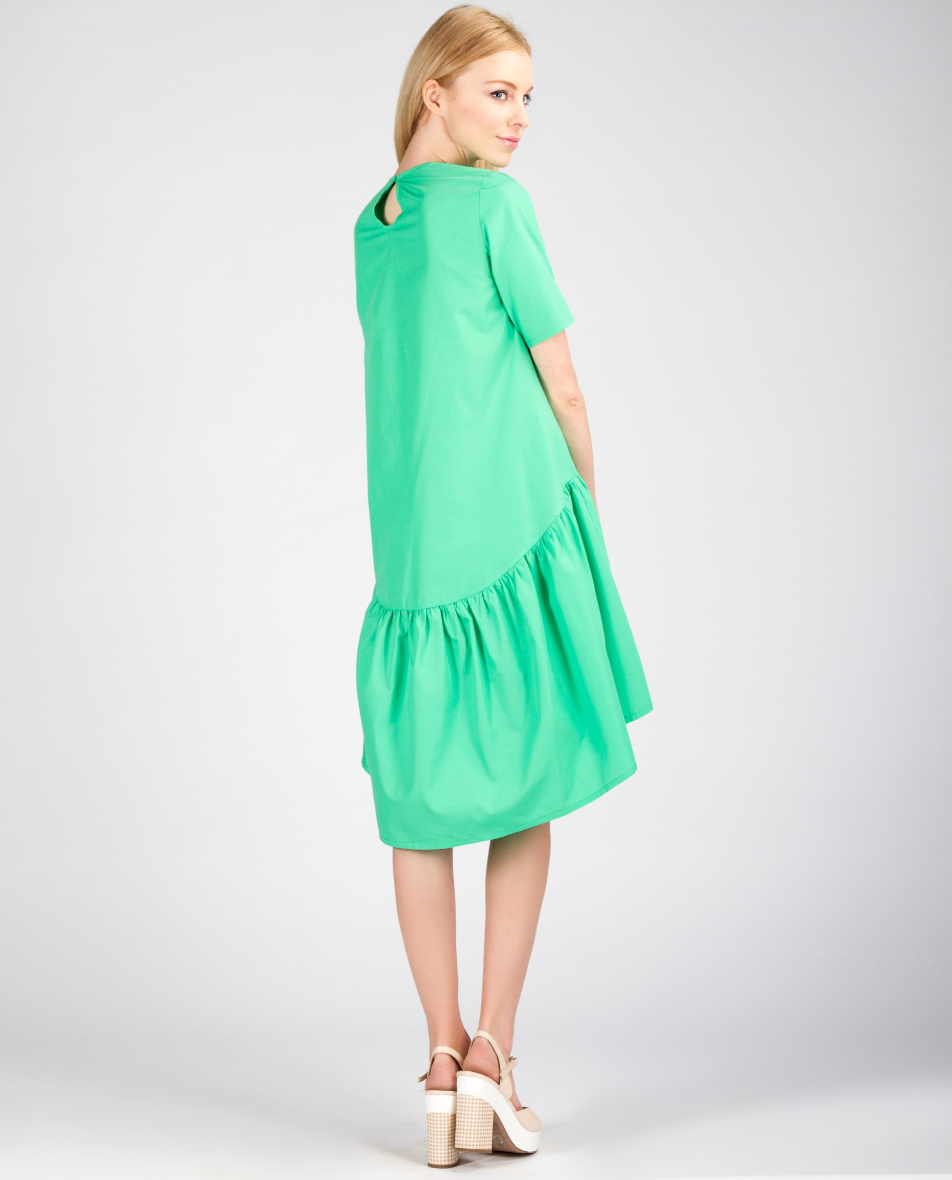 Купить Платье С Воланом Внизу