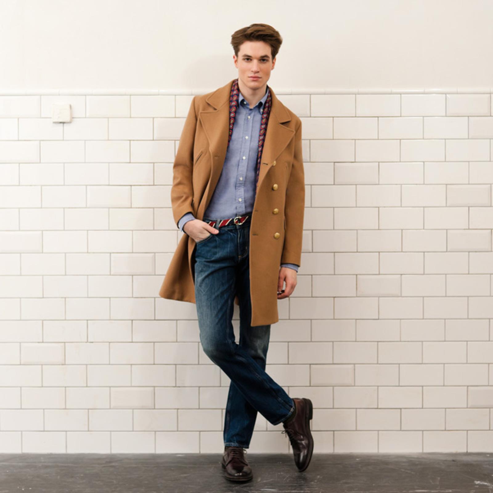 С чем носить мужское пальто по колено