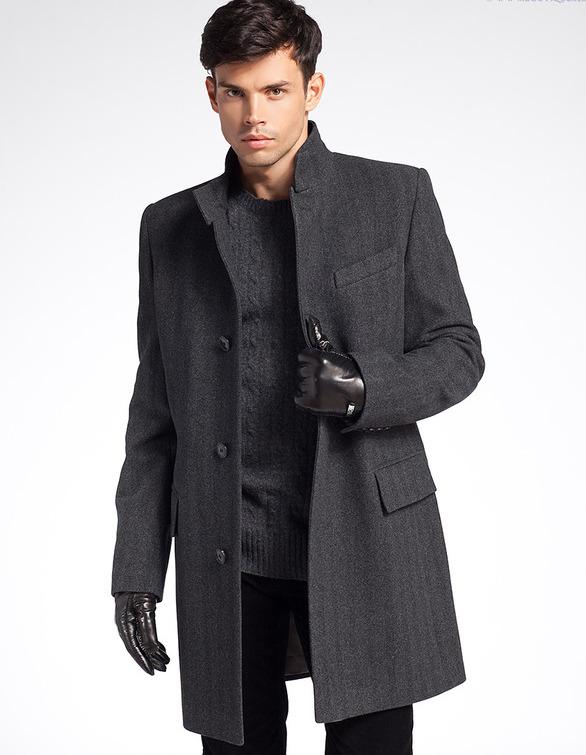 Модели пальто мужские модные